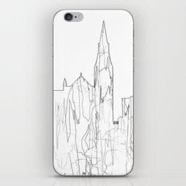 Galway, Ireland Skyline B&W - Thin Line iPhone Skin