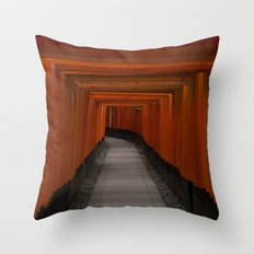 Fushimi Inari Torii Throw Pillow