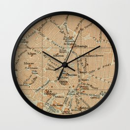 Vintage Jerez Spain Map (1913) Wall Clock