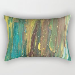 Abstract Mystery of the Forest Rectangular Pillow