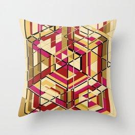 Hexagon No.2 Throw Pillow