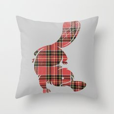 Plaidapus delux Throw Pillow