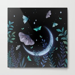 Moth Garden Metal Print