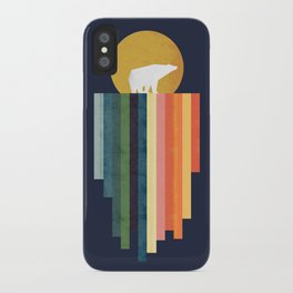 Polar bear on ice cream iPhone Case
