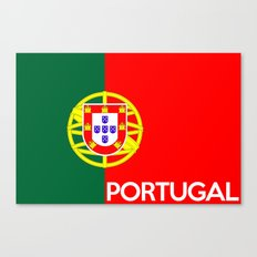 Portugal country flag name text Canvas Print
