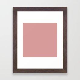 Pressed Rose D89C9A Framed Art Print