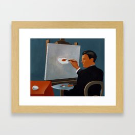 Magritte remixed Framed Art Print