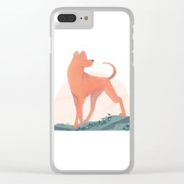 doggust: shar pei Clear iPhone Case