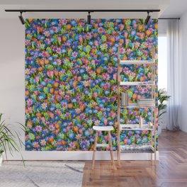 Flowers. Children's drawings Wall Mural