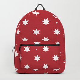 Happy New year and Merry Christmas wrapping paper red background with stars pattern Backpack