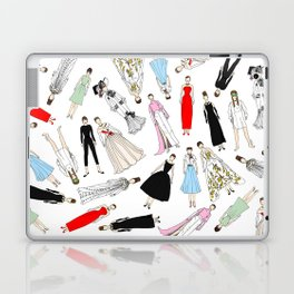 Audrey Hepburn Fashion (Scattered) Laptop & iPad Skin