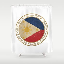 Vintage Republic of the Philippines Shower Curtain