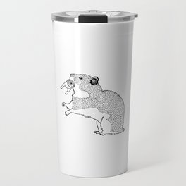 Mother Hamster Carrying Her Baby Travel Mug