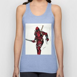 Wade Wilson. Merc with a mouth Unisex Tank Top