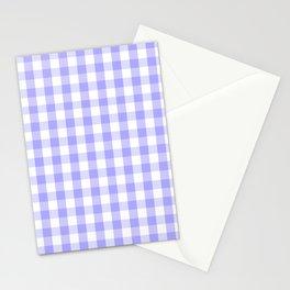 Melrose Purple Gingham  Stationery Cards
