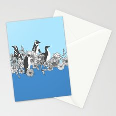 Flowers & Penguins Stationery Cards