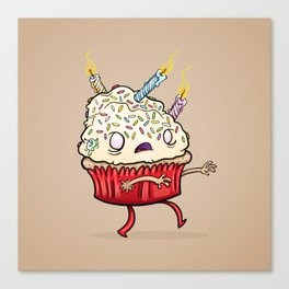 Cupcake zombie 8 Canvas Print
