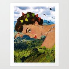 Peaceful time Art Print