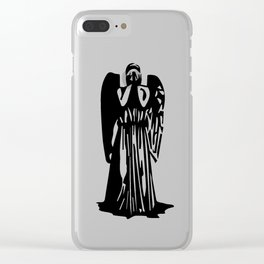 Doctor Who - Weeping Angel Clear iPhone Case
