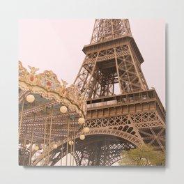 le Carrousel de la Tour Eiffel Metal Print