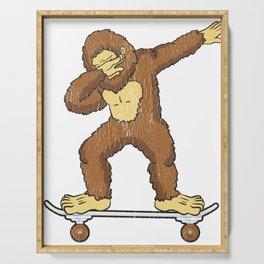 Skateboarding Bigfoot Sasquatch on Skateboard Gift for Skater  Serving Tray