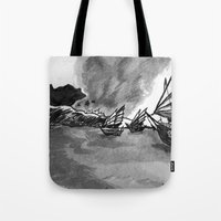 ships Tote Bags featuring Ships by spiderdave7