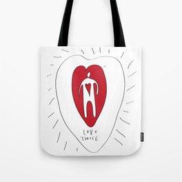 love twice Tote Bag