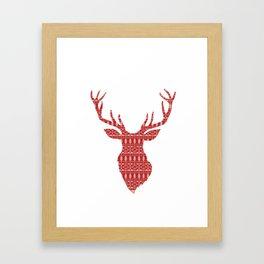 Christmas Jumper Red and White Pattern Framed Art Print