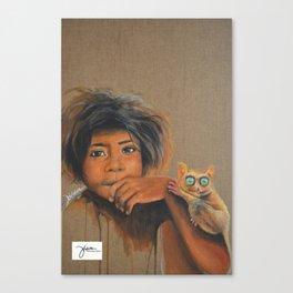 Ati and tarsier Canvas Print