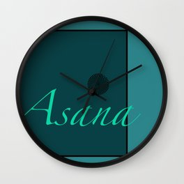 Asana Blue Wall Clock