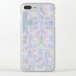 She Talks to Rainbows // Unicorn color dusted rock Clear iPhone Case