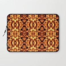 Brown Yellow  Flower Pattern Laptop Sleeve