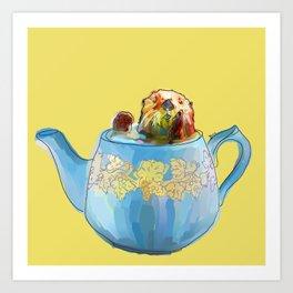 Otter Teapot Art Print
