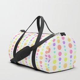 Rainbow Pastel Dots Pattern Duffle Bag