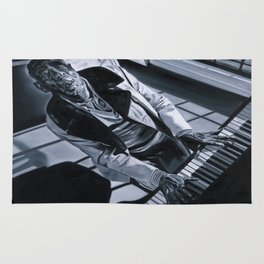 Blues Man With Piano Rug