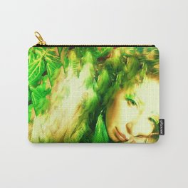 Fairy feather head dress fairy goddess green feathers ,WOOD NYMPH Carry-All Pouch