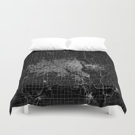 omaha map nebraska Duvet Cover