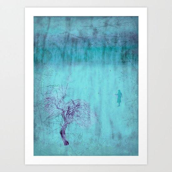 Walking ~ Abstract Shiraz series Art Print