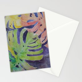 Miami Palms Watercolor Art by Julesofthesea Stationery Cards