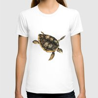 sea turtle T-shirts featuring Sea turtle by Anna Yudina