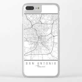 San Antonio Texas Street Map Clear iPhone Case