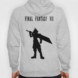 Cloud Strife Silhouette Minimal (Black) - Final Fantasy VII Hoody