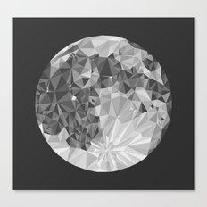 Abstract Full Moon Canvas Print