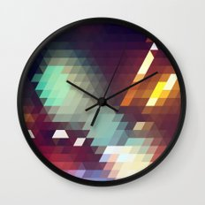 Triangle Pattern Wall Clock