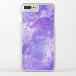 Violet galaxy Clear iPhone Case
