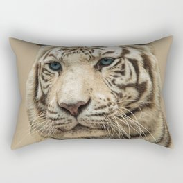 FACE OF THE WHITE TIGER Rectangular Pillow
