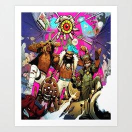 flatbush zombies tour 2016 Art Print