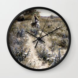 George Hitchcock The Flight into Egypt Wall Clock