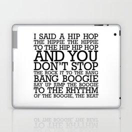 HIP HOP BOGGIE WHITE Laptop & iPad Skin