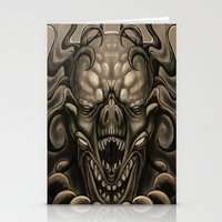 demon Stationery Cards featuring demon by Mr Grin